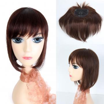 【RT14】瀏海長約19 全長約30公分 手織大頭皮補髮塊/頭頂瀏海髮片 100%真髮可染可燙