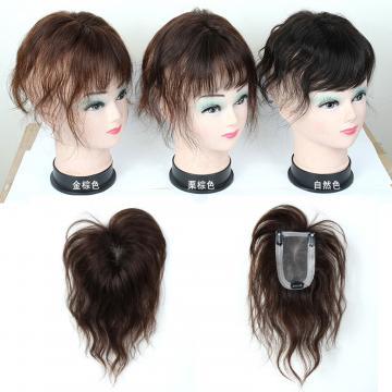 【RT33】內網約9X5.5公分 髮長約20公分 捲髮100%真髮微增髮輕量補髮塊 女仕