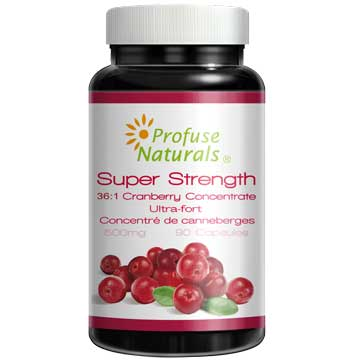 優沛康【沛然 Profuse Naturals】36倍蔓越莓500mg濃縮膠囊(90顆/瓶) 單瓶入