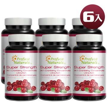 優沛康【沛然 Profuse Naturals】36倍蔓越莓500mg濃縮膠囊(90顆/瓶) 6入組