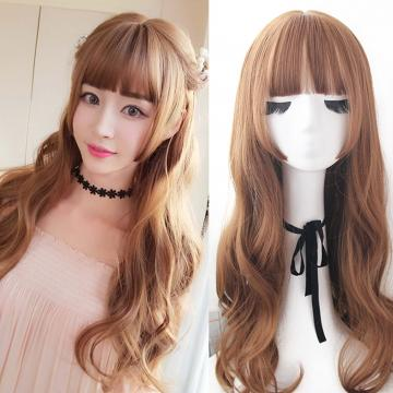 【MA373】二次元髮姬式 空氣瀏海 超美 耐熱 長捲髮 假髮
