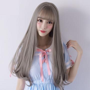 【MC363】韓系高仿真 直髮髮尾微捲假髮 空氣瀏海 美爆!! 耐熱