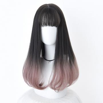 【MC388】韓系高仿真 自由分線 空氣瀏海 長直髮 髮尾微彎捲