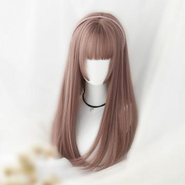 【MC375】空氣瀏海 高仿真 大頭皮自由分線 二次元髮姬式 長直髮內灣捲