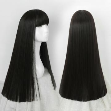 【MC374】空氣瀏海 高仿真 大頭皮自由分線 一刀剪 長直髮
