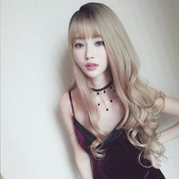 【MA398】女神款 隨意側分 耐熱 長捲髮 超美假髮