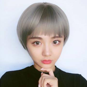 【MB349】韓系高仿真 自由分線 不規則 齊瀏海 短直髮