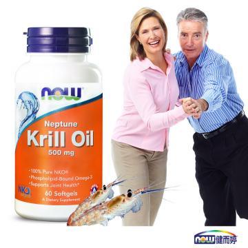 NOW健而婷-專利南極蝦精(NKO磷蝦油)(60顆/瓶)