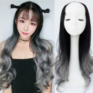 【MW416】全新設計U型半罩式假髮 韓系浪漫挑染大捲髮 逼真自然