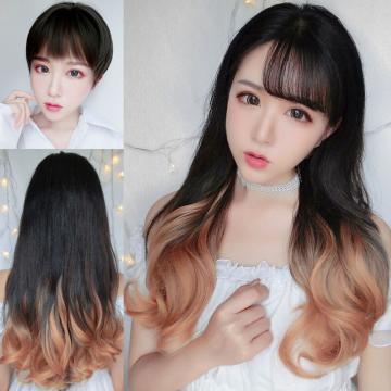 【MW417】全新設計U型半罩式假髮 韓系浪漫挑染捲髮 逼真自然
