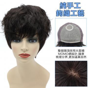 【MR53】髮長約28公分瀏海長20-23公分 大面積超透氣MOMO網 100%頂級整頂真髮