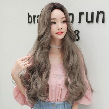 【MA424】真實度破表!! 擬真韓系假髮  耐熱 長捲髮 超美中分大捲 假髮