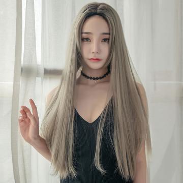 【MC427】真實度破表!! 擬真韓系假髮 中分 唯美長直髮