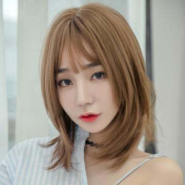 【MC428】真實度破表!! 擬真韓系假髮 中分 層次短直髮