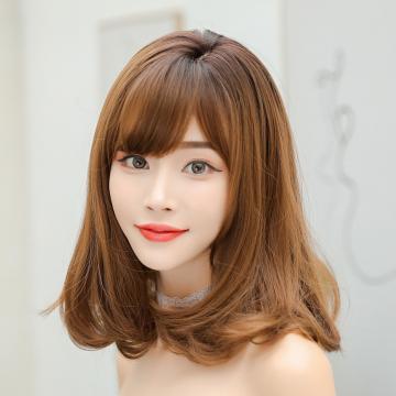【MX423】實度破表!! 擬真韓系假髮 側分 梨花頭