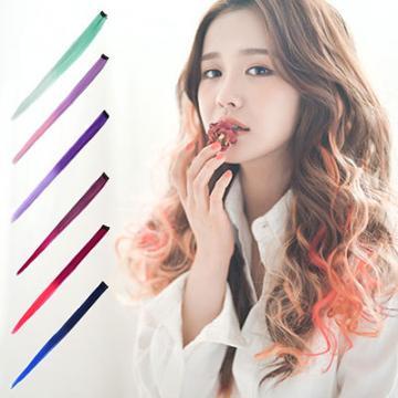【MF005】雙色漸層挑染髮片 超美 耐熱材質可上電棒/COS造型挑染髮片☆雙兒網☆