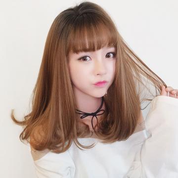 【MX408】真實度破表!! 擬真韓系假髮 可韓式側分 梨花頭
