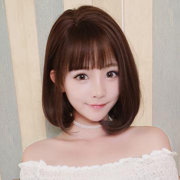 【MB413】氣質女神 短髮  高仿真 大頭皮可自行側分自由分線  空氣瀏海 短直髮