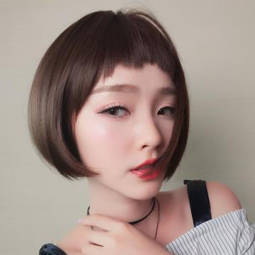 【MB412】酷女神 俏短髮  高仿真 大頭皮自由分線  空氣瀏海 短直髮