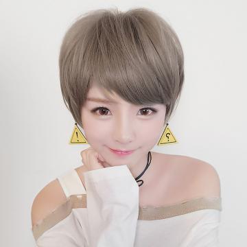 【MB411】萌萌 俏短髮  高仿真 大頭皮自由分線  空氣瀏海 短直髮