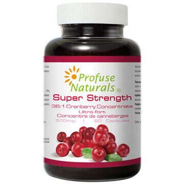 優沛康【沛然 Profuse Naturals】36倍蔓越莓500mg濃縮膠囊(60顆/瓶) 單瓶入