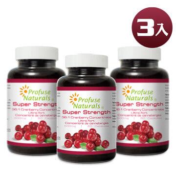 優沛康【沛然 Profuse Naturals】36倍蔓越莓500mg濃縮膠囊(60顆/瓶)3入組
