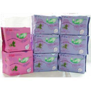 【芫茂UFT】自然蘆薈草本精華衛生棉 - 清新日用6包夜用2包