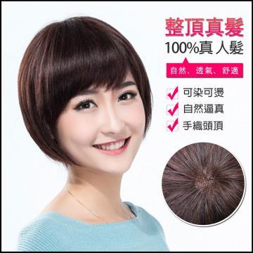【MR80】前長約20後長28公分 仿真頭頂 抗菌內網 100%頂級整頂真髮