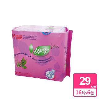【芫茂UFT】天然草本衛生棉 - 安心夜用型*6包