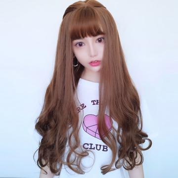 【MA530】真實度破表!! 擬真韓系假髮 耐熱 齊瀏海 長捲髮 超美大捲髮