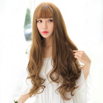 【MA531】真實度破表!! 擬真韓系假髮 耐熱 空氣瀏海 長捲髮 超美夢幻大捲髮