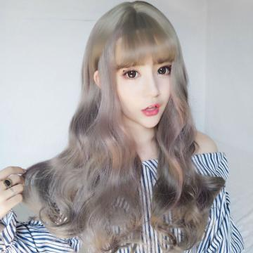 【MA532】超美!! 網紅最愛 挑染 擬真韓系假髮 耐熱 空氣瀏海 長捲髮 COS 假髮