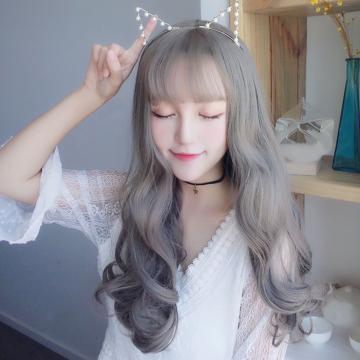 【MA542】超美!! 網紅最愛 擬真韓系假髮 耐熱 空氣瀏海 長捲髮 COS 假髮
