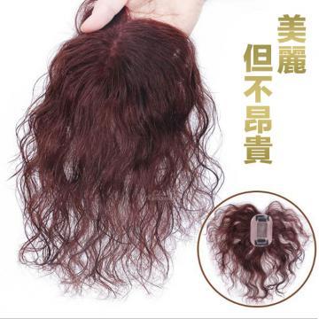 波浪捲髮 內網5X8公分 髮長17公分 媽媽髮 增髮頭頂瀏海髮片【RT55】 ★雙兒網★