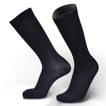 立體直紋 運動風小腿襪-15~20 mmHg (200Den) - 黑色(四雙入)